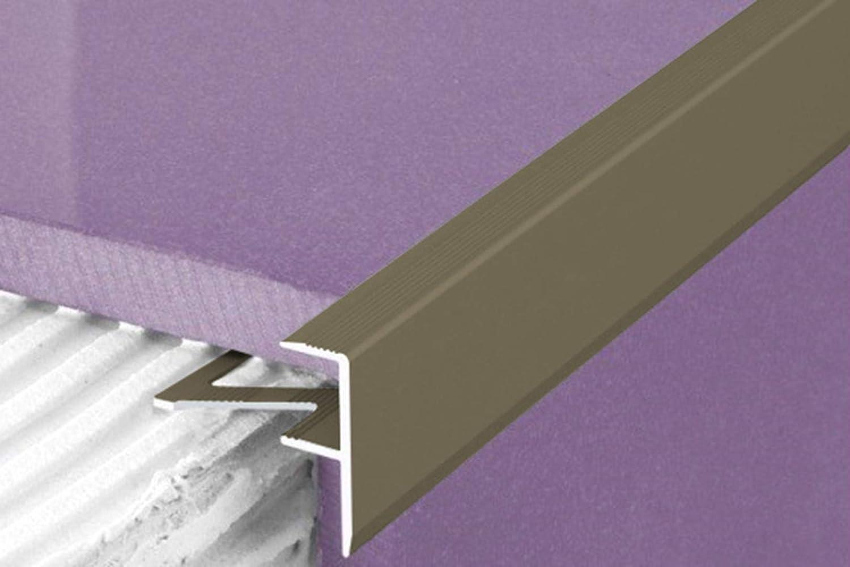 A85 alu anodis/é f-form fliesenleiste stufenprofil Profil de protection des bordures 10mm 1.00 Meter Noir