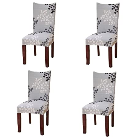 Fuloon Chair Cover Stretch Removable Washable Slipcovers For Hotel Dining Room Ceremony Banquet Wedding Party