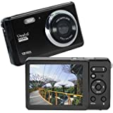 "Vmotal GDC80X2 Compact Digital Camera 12MP HD 3"" TFT LCD Screen for Children / Beginners / Elderly Christmas Gift ( Black & Black)"