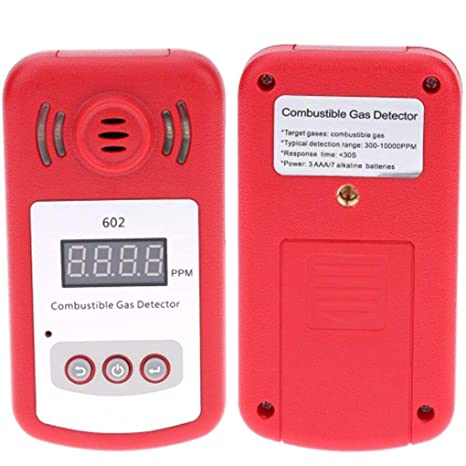 Mairuay KXL-602 Portable Mini Combustible Gas Detector Analyzer Gas Leak Tester with Sound and Light Alarm - - Amazon.com