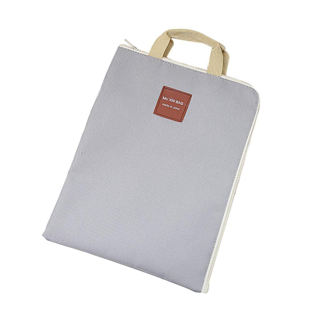 JUNGEN Tasche di file su tela Archiviazione di file Custodie di file Tasca portadocumenti portatile Porta documenti Custodia per documenti Rosa