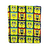 Spongebob Window Collage Repeater Fleece Character Blanket 50 x 60-inches