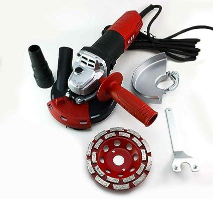 PRODIAMANT Kit de hotte daspiration avec brosses pour meuleuse dangle avec meule diamant de 125 mm.