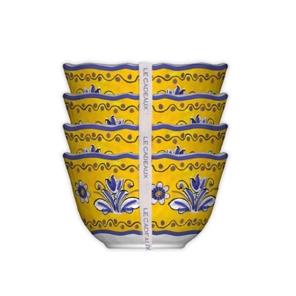 Le Cadeaux 098BEN Set of 4 Desert Bowls Benidorm 5 inches Multicolor