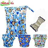 Baby Waterproof Reuseable Training Nappy Diapers 3pcs, A Wet/Dry Bag by Ohbabyka