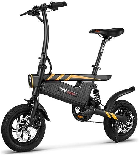 WXJWPZ Bicicleta Eléctrica Plegable Bicicleta Eléctrica 12 Pulgadas Asistente De Potencia Plegable Bicicleta Eléctrica Bicicleta Eléctrica 250W Motor Y Frenos De Disco Dobles Plegables: Amazon.es: Hogar