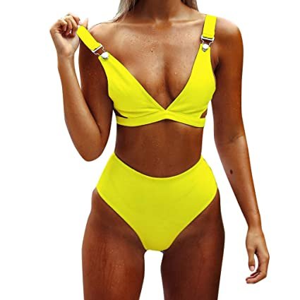 a64f5bfdab755 Image Unavailable. Image not available for. Color  Voberry Women s Bandage  Bikini Push-up Bra Swimsuit ...