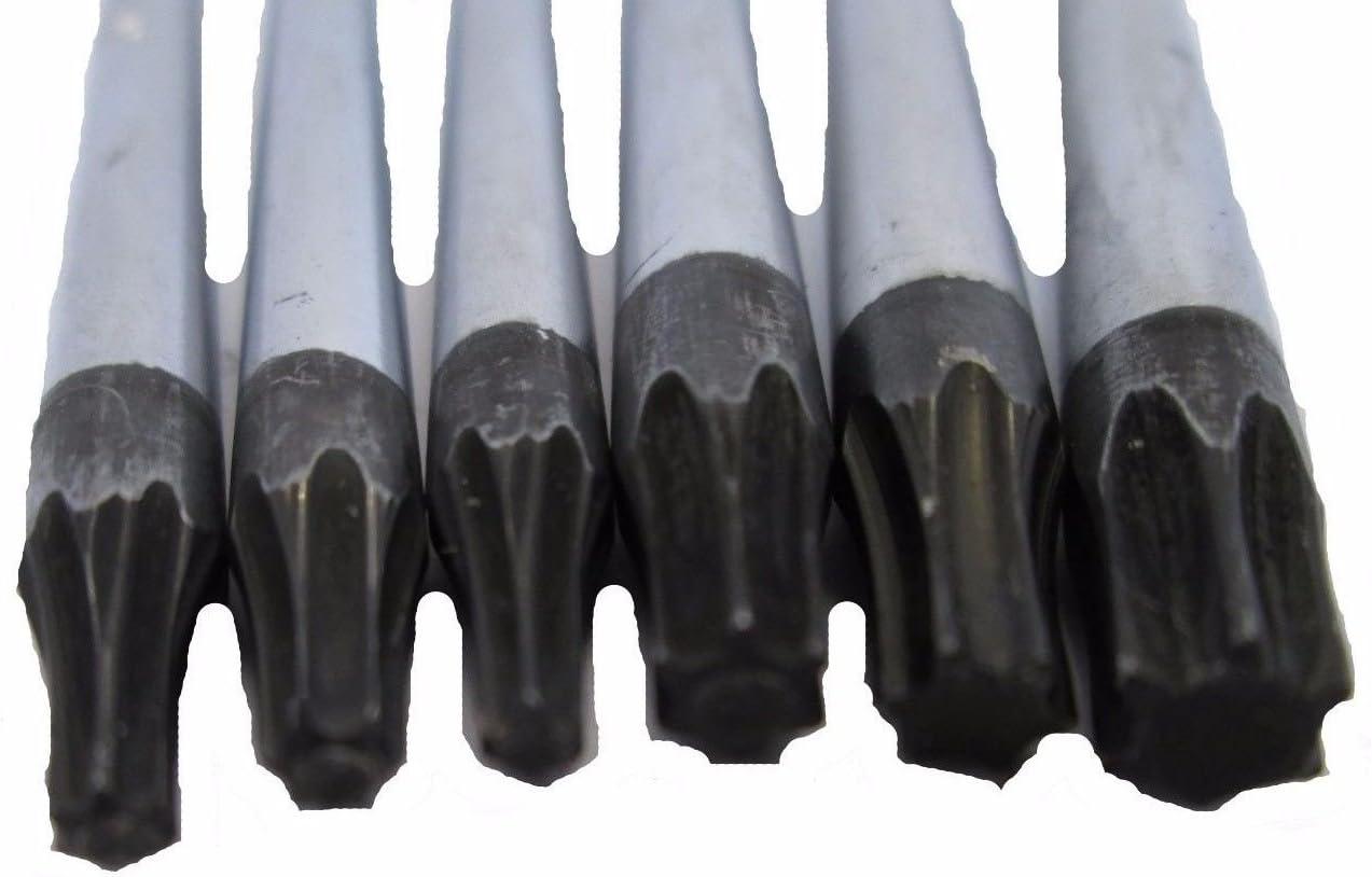 Torx screwdrivers extra long total length 250mm T10 T30 BERGEN AT413