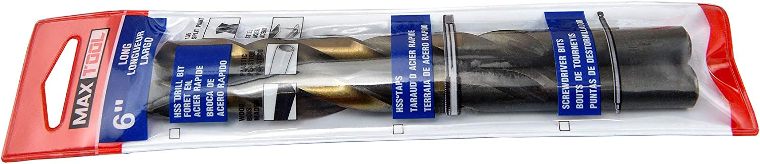 MAXTOOL 17//32 2pcs Identical Jobber Length Twist Drill Bits HSS M2 Fully Ground; JBF02H10R34P2