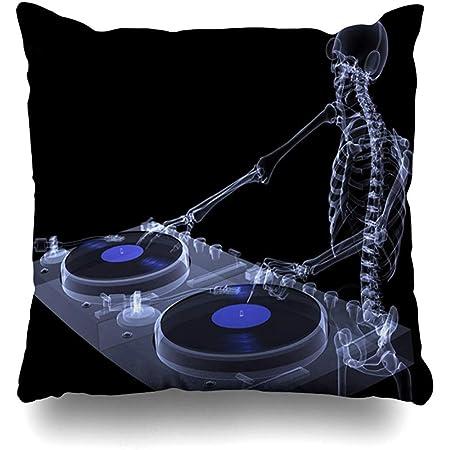 Starodec Funda de Almohada anatómica para audífonos, Esqueleto DJ ...