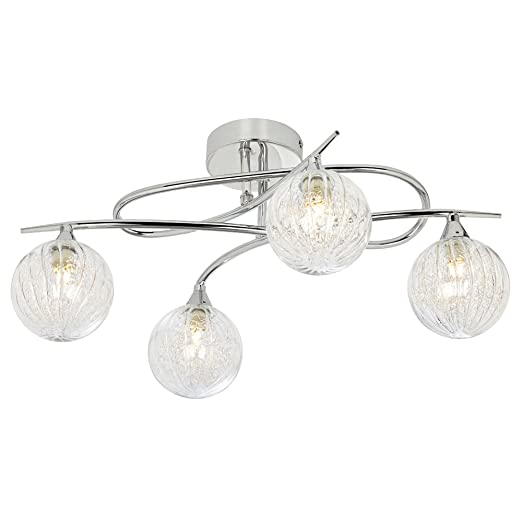 Pagazzi hadley 4 light semi flush ceiling light polished chrome