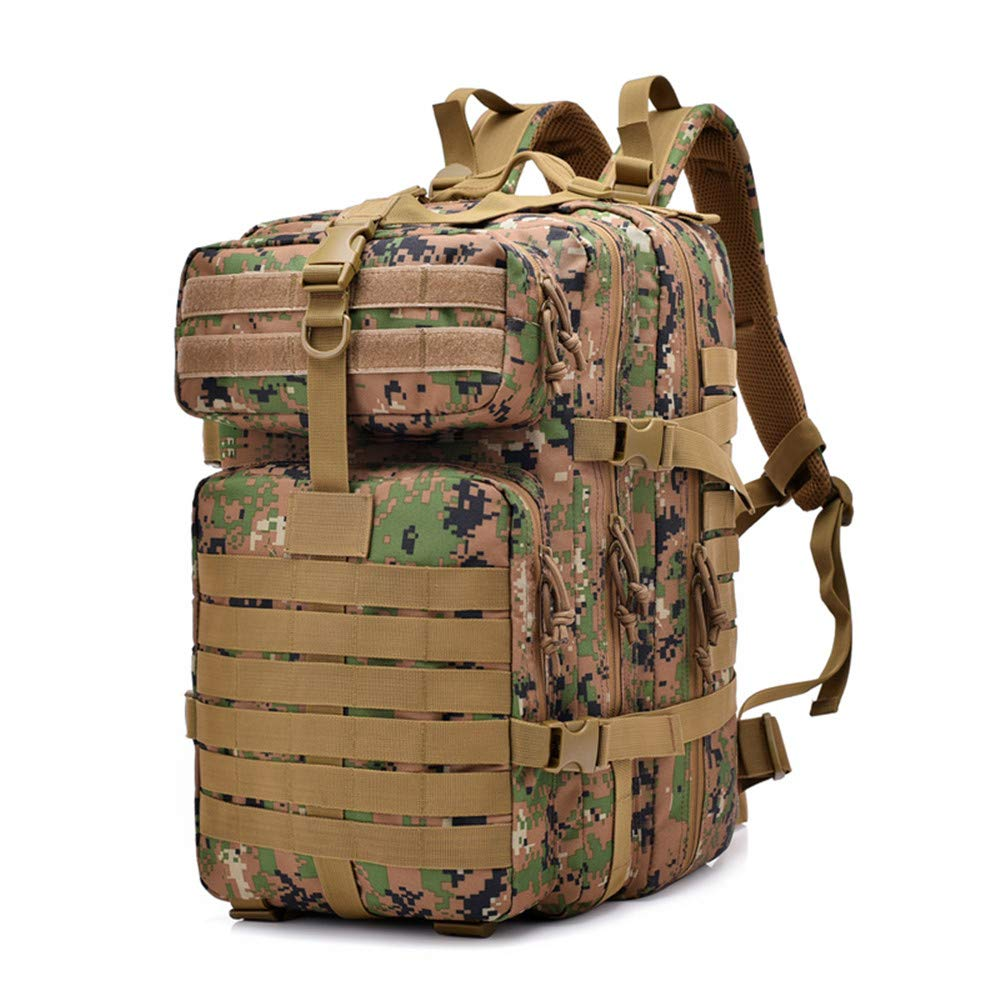 Vacio Army Tactical Backpack, (The loadable 30kg) Hydration Backpack, Military Rucksack Bag, Small Rucksack for Hunting Survival Camping Trekking 40L,Jungle Style