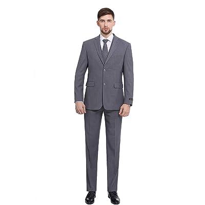 P&L Men's 3-Piece 2 Buttons Slim Fit Performance Suit: Clothing