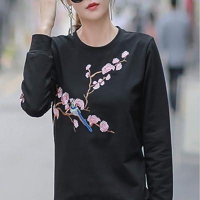 Butterfly BB Camiseta de manga larga de lana de cachemira versión coreana para mujer de principios de otoño suelta nueva camisa de base joker camisa de base de chaqueta joker,M: Ropa y accesorios