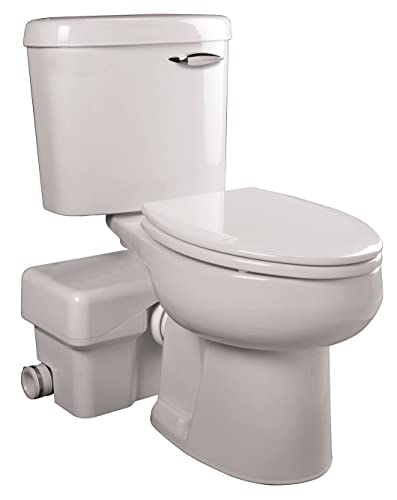 Liberty Macerating Toilet, Round, 1/2 HP, 115V