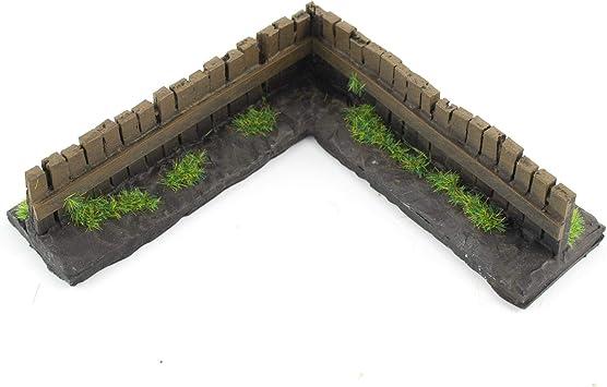 War World Gaming - Valla de Madera en Esquina Pintada x 1 - Wargaming, Escenografía Miniatura, Decorado Miniatura, Paisajismo, Modelismo Wargames, Maquetas: Amazon.es: Juguetes y juegos