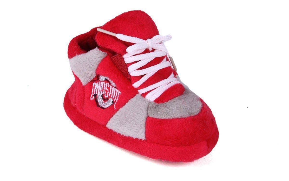 OHI03PR - Ohio State Buckeyes NCAA Happy Feet Baby Slippers by Comfy Feet