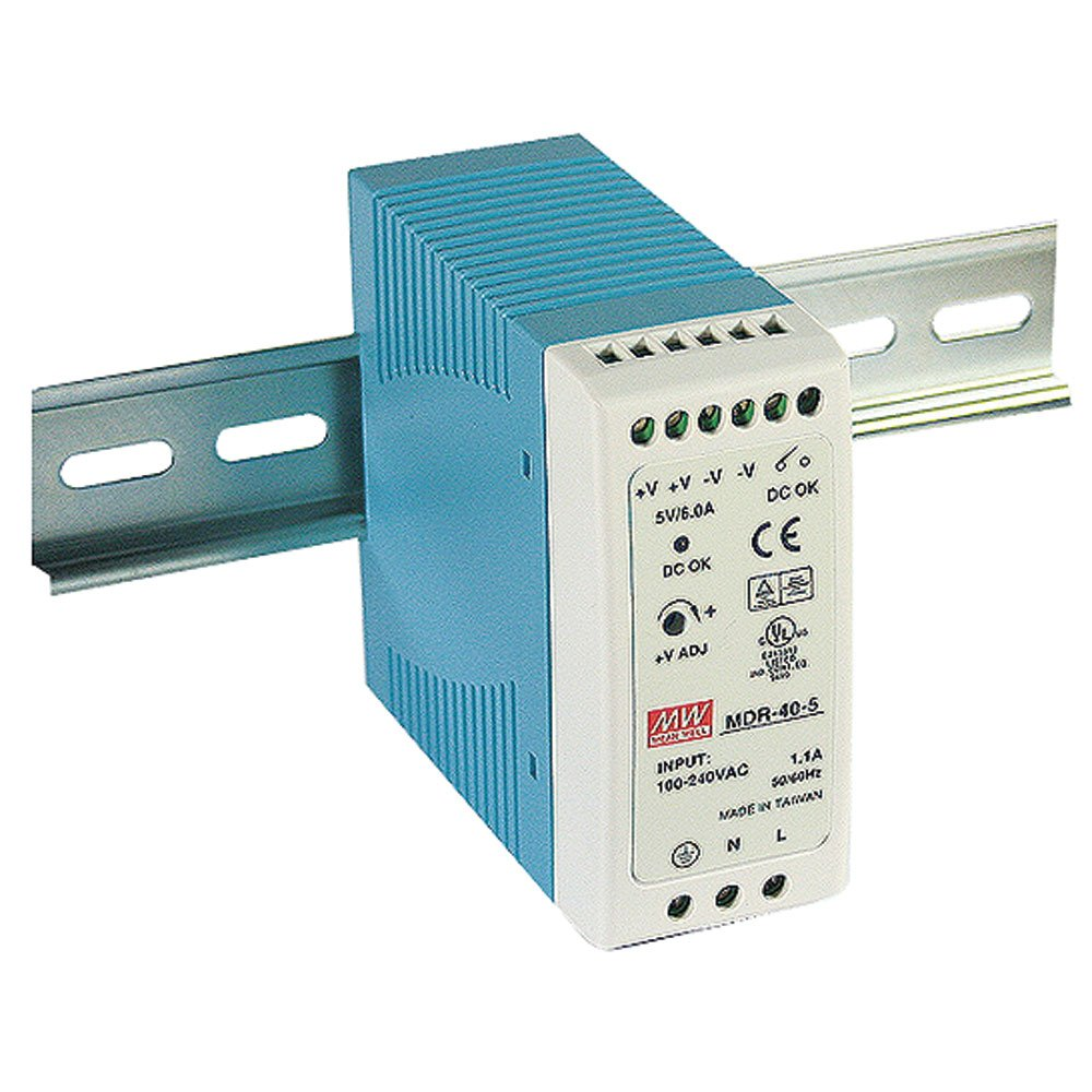 MEAN WELL MDR-40-12 AC to DC DIN-Rail Power Supply 12V 3.33 Amp 40W