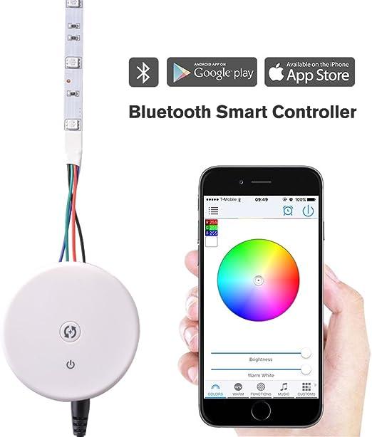 White Bluetooth LED Controller Mobile APP Control Mode For RGB LED Strip Light