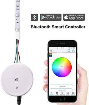 Sunix® Mini Controlador Bluetooth RGB/RGBW 12-24V Cinta Luz LED ...