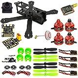 woafly LHI 220 Quadcopter Kit Full Carbon Frame Kit+DX2205 2300KV Brushless Motor+ Littlebee 20A Mini ESC+5045 Propeller ARF