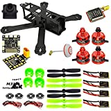 woafly LHI 220mm Full Carbon Frame + DX2205 2300KV Brushless Motor + Littlebee 20A ESC + Pro SP Racing F3 Flight Controller Acro + 5045 Propeller FPV Quadcopter ARF kit