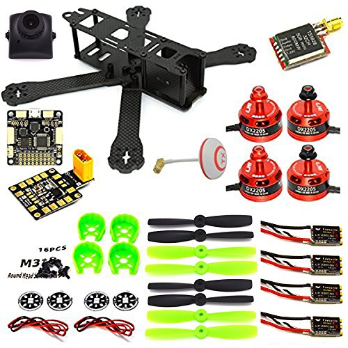 woafly LHI 220mm Full Carbon Frame + DX2205 2300KV Brushless Motor + Littlebee 20A ESC + Pro SP Racing F3 Flight Controller Acro + 5045 Propeller FPV Quadcopter ARF - Kit Starter Quad