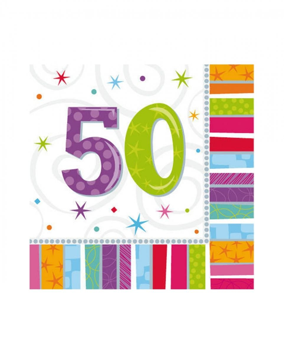 Horror-Shop Birthday Napkins 50 Colorful