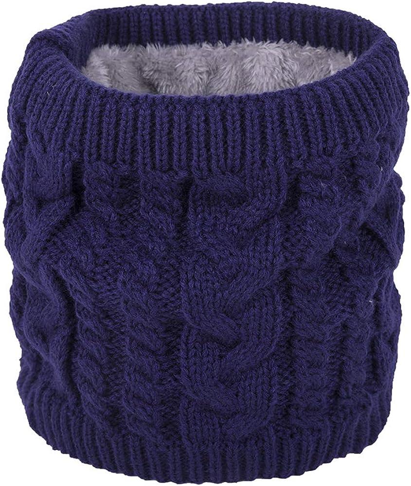 Leisial Bufanda de Cuello Bufanda de Punto Caliente Calentador Espesado Bufanda de Tejido Invierno Oto/ño para Unisex Hombre Mujeres