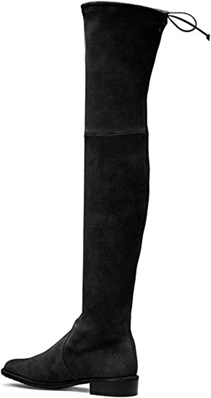 ACEDICHY Knee High Boots,Women's Round