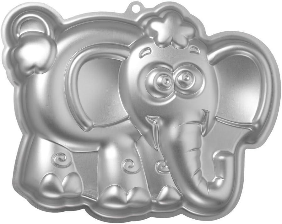 Argent Moule en Silicone Moule /à g/âteau en Aluminium /él/éphant Po/êle 21/x 25,5/x 5/cm