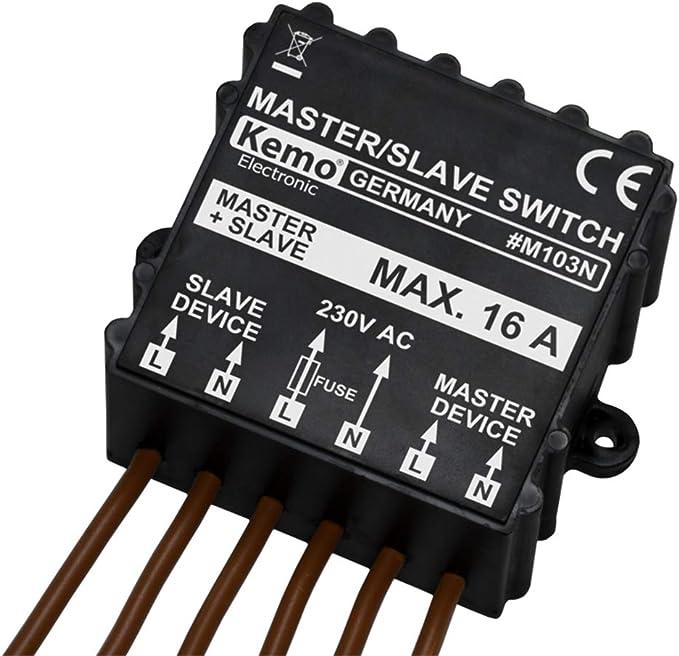 400 V//CA 230 V//CA Kemo Interruttore master//slave M103N /& Einhell Mini lubrificatore per compressore R 1//4