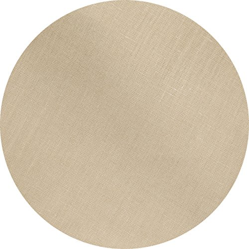 Huddleson Camel Gold Pure Linen Round Tablecloth 68