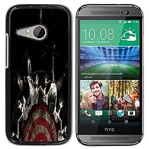 LECELL -- Funda protectora / Cubierta / Piel For HTC ONE MINI 2 / M8 MINI -- Cool Target Fear Black Dark --