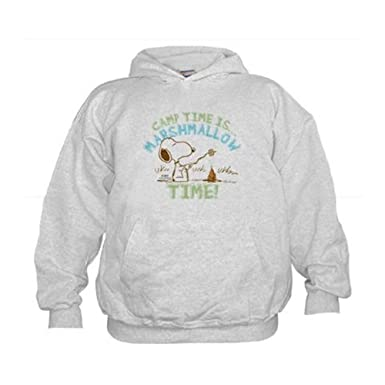 de4147763 CafePress - Snoopy Marshmallow Time Hoodie - Kids Hooded Sweatshirt,  Classic Hoodie Ash Gray