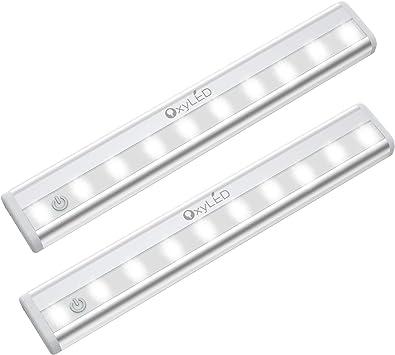 Self Adhesive Push Light with 5 Bright LEDs Garage//Cupboard Strip Spotlight