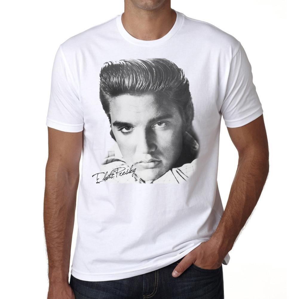 Elvis Presley: Herren shirt Weiß Geschenk