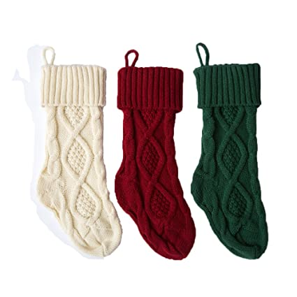 funny party newest 3 pack 15 knit christmas stockingswihtegreenred - Funny Christmas Stockings