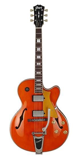 Guitarras eléctricas CORT YORKTOWN BV Media-Caja, color naranja ...