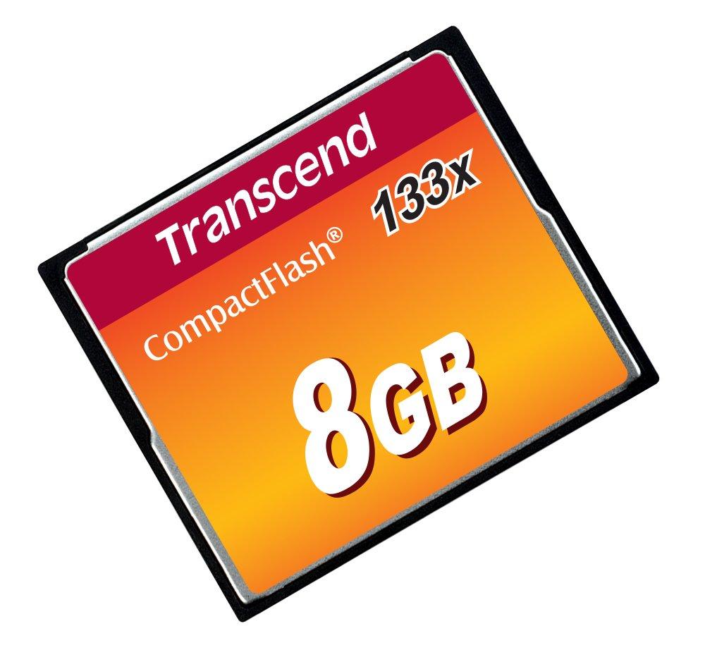 Transcend 8GB CompactFlash Memory Card 133x (TS8GCF133)