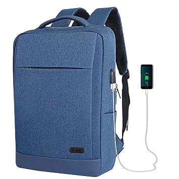 TECOOL 15,6 Pulgadas Mochila para Portátil con Puerto de USB, Mochila Impermeable Hombre y Mujer Mochila Escolares para Diario Negocio Trabajo Viaje, ...