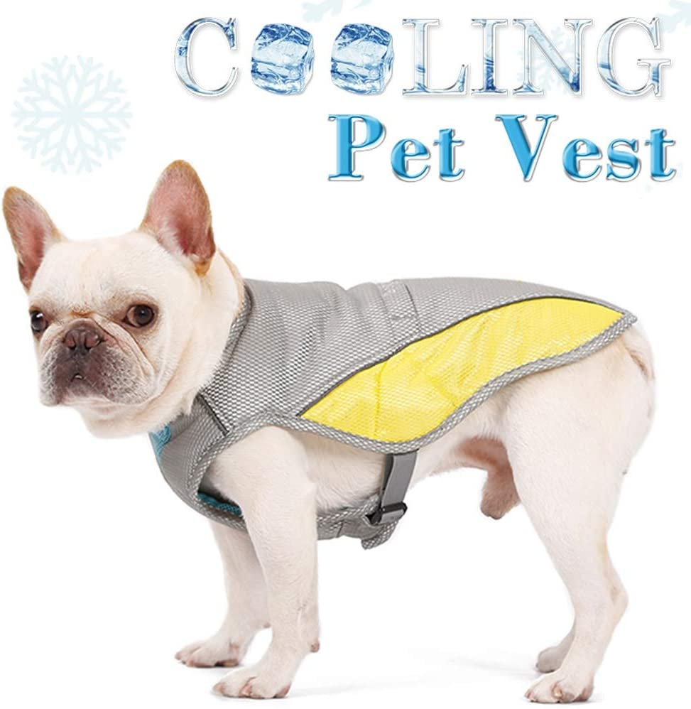 Cooling Vest Harness for Dogs - Evaporative Dog Jacket Safety Reflective Vest for Small Medium Large Dogs, Pet Cooling Coat for Walking Outdoor Hunting Training Camping