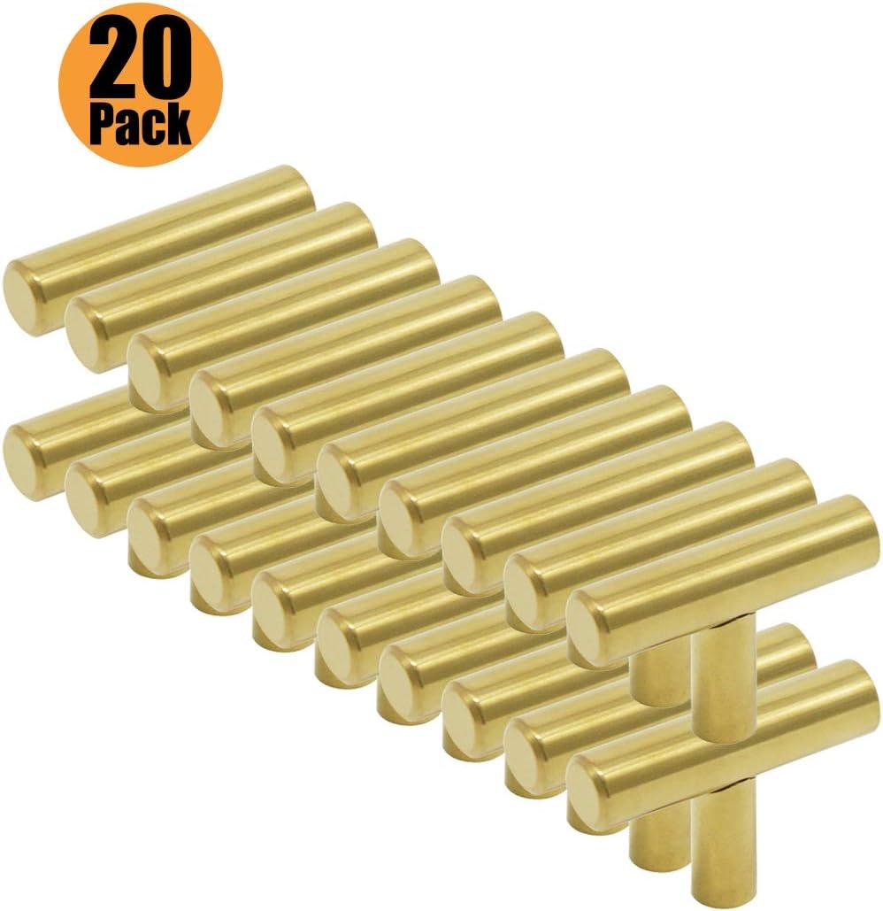 PinLin 5 St/ück Griffe K/üche Lochabstand 160mm M/öbelgriffe Edelstahl Gold K/üchenschrank Stangengriffe Schrauben enthalten