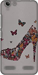 AMZER Slim Handcrafted Designer Printed Hard Shell Case Back Cover for Lenovo Vibe K5/ K5 Plus - Butterfly High Heels