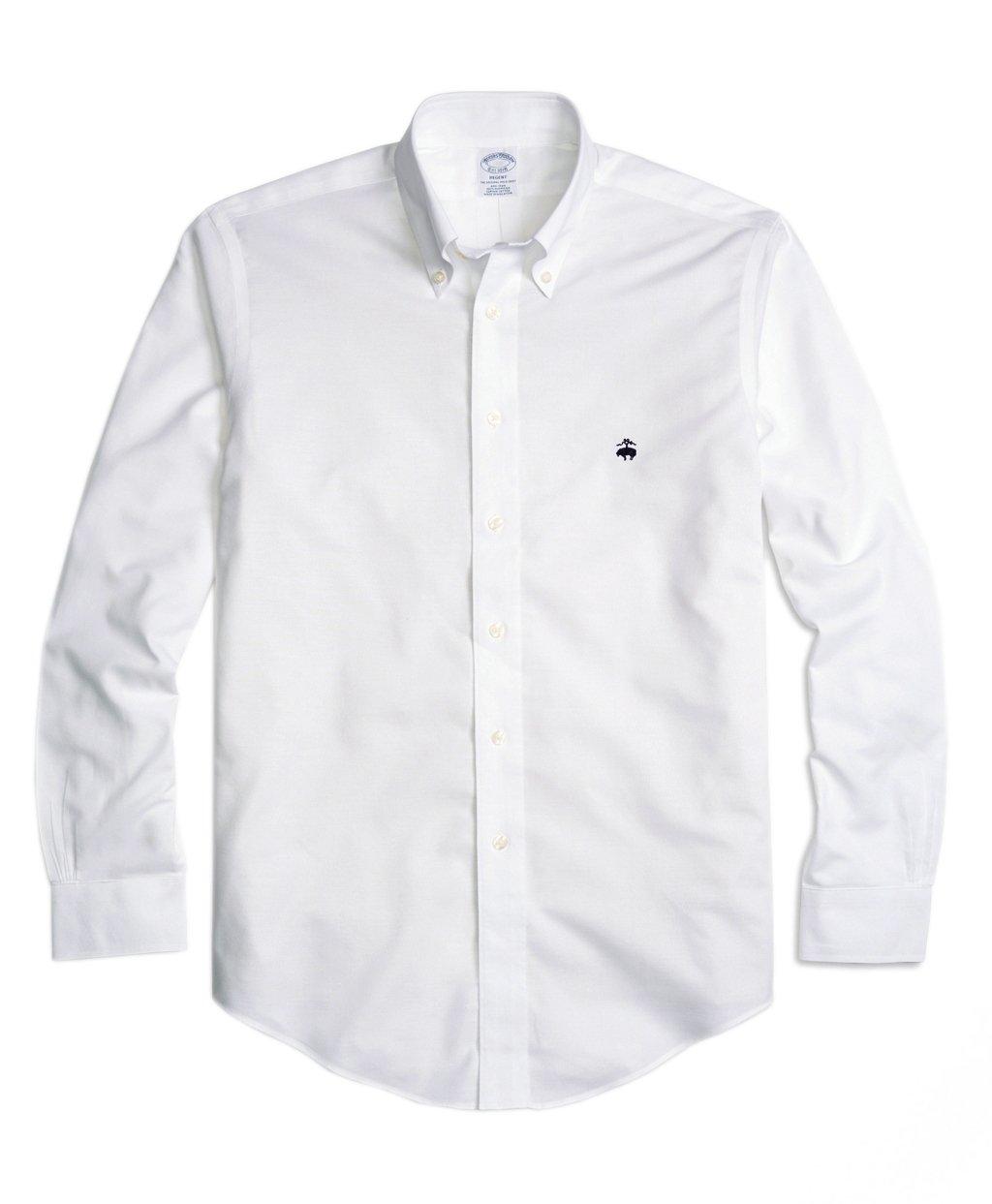 4c3b76e241f Amazon.com  Brooks Brothers Men s Regent Slim Fit Non Iron Oxford Button  Down Shirt White (X-Large)  Home   Kitchen