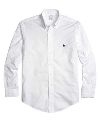 e497e6b806520 Amazon.com  Brooks Brothers Men s Regent Slim Fit Non Iron Oxford Button  Down Shirt White (X-Large)  Home   Kitchen
