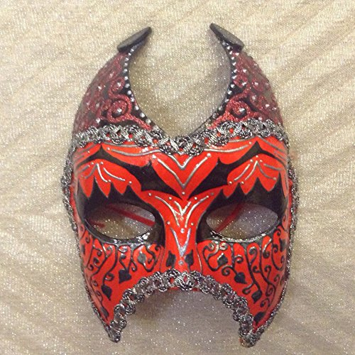 She Devils Costumes (Venetian mask, Handmade Mask, Masquerade Ball, Costume Mask, Mardi Gras Mask, halloween mask, female devil mask, devil mask, demon mask, red mask, she devil, pagan mask)