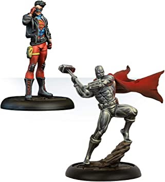 Knight Models Juego de Mesa - Miniaturas Resina DC Comics Superheroe - Superboy & Steel: Amazon.es: Juguetes y juegos