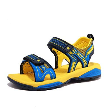 2f550ee3fc654 Image Unavailable. Image not available for. Color  Kids Sandals for Girls  Boys Summer Shoes Beach Slippers Slip on Cool Breathable Mesh for Children