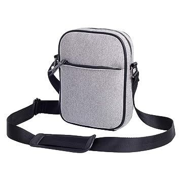 Canvas Messenger Shoulder Bag for Men Crossbody 10 inch Laptop Bag Longest  Strap Drop 23.5 inch 389cc19bab71a